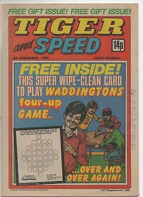 Tiger and Speed (Vintage Comic) 6th December 1980