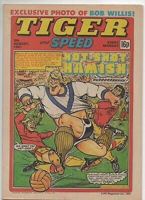 Tiger and Speed (Vintage Comic) 8th August 1981