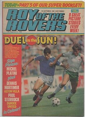 Roy of the Rovers (Vintage Comic) 11th September 1982