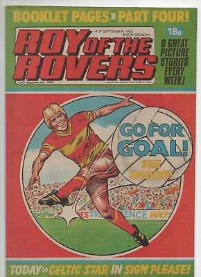 Roy of the Rovers (Vintage Comic) 4th September 1982
