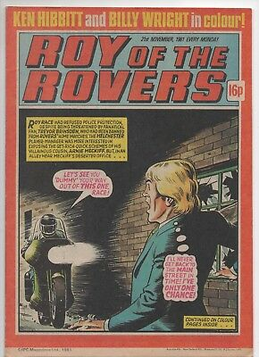 Roy of the Rovers (Vintage Comic) 21st November 1981