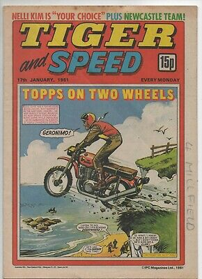 Tiger and Speed (Vintage Comic) 17th January 1981