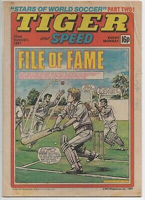 Tiger and Speed (Vintage Comic) 22nd August 1981