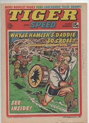 Tiger and Speed (Vintage Comic) 13th June 1981