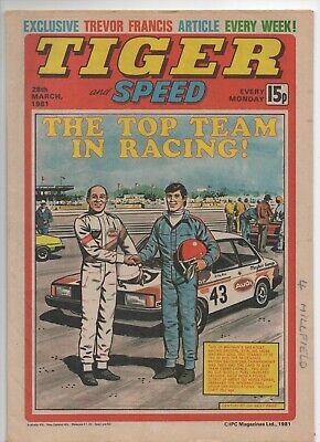 Tiger and Speed (Vintage Comic) 28th March 1981