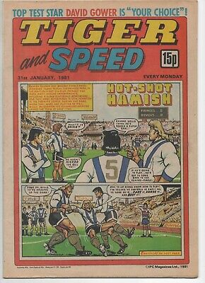 Tiger and Speed (Vintage Comic) 31st January 1981