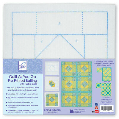 June Tailor--Quilt As You Go Pre Printed Batting--Fair & Square Pattern