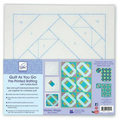 June Tailor--Quilt As You Go Pre Printed Batting --Mosaic Magic Pattern