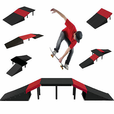 6 IN 1 Stunt Skate Rampe Ensemble pour Scooter Skateboard BMX Vélo Roller Inline
