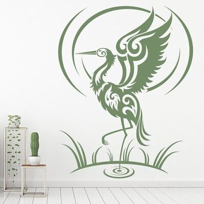Tribal Flamingo Bird Wall Sticker WS-15447