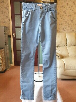 Next Light Blue Chino Style Trousers Age 12 Excellent Condition Worn Once