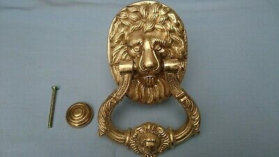 Huge / Heavy Solid Brass Lion Door Knocker