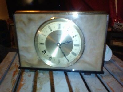 Vintage Antique Electric Metamec Marble Effect Mantle Clock 1950/60s Era
