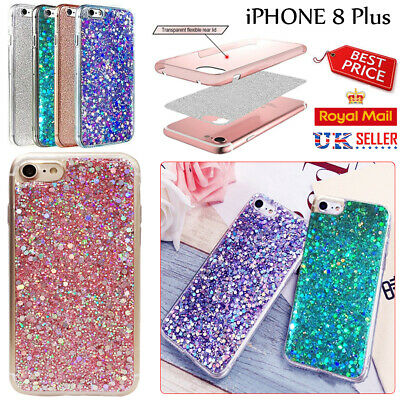 iphone 8 + Luxury Bling Slim Sparkly Glitter Shockproof Slicone Soft Case Cover