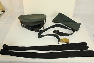 Lot of Military Items Service Caps Belt Ties Buckles Marked US