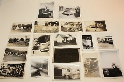 18 Vintage Collectible Photos People with Automobiles