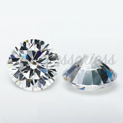 Cubic Zirconia Loose Stones Clear Crystal CZ Round Brilliant bead round gems