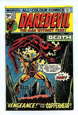 Daredevil #125 - Marvel BRONZE AGE 1975 VFN- - Pence Issue