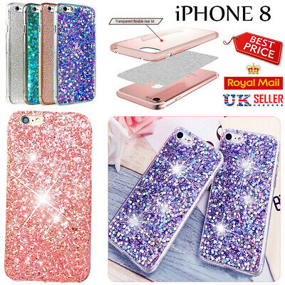 iPhone 8 Luxury Bling Slim Sparkly Glitter Shockproof Soft Silicone Case Cover