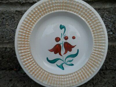 Antique Sponge ware type plate - early 19th century ceramic plate - 6 inch