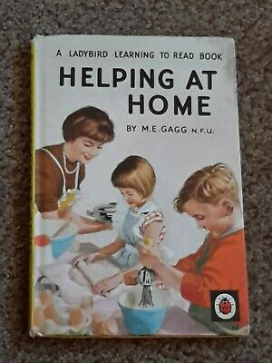Vintage  Ladybird Book  Helping At Home   563