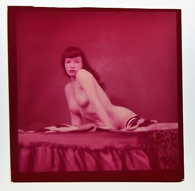 FANTASTIC 1954 BETTIE PAGE COLOR NEGATIVE PHOTOGRAPH PIN-UP Robert Stanton GREAT