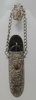 Victorian Antique C1880 Silver Plated Chatelaine Glasses Case & Spectacles (LE29