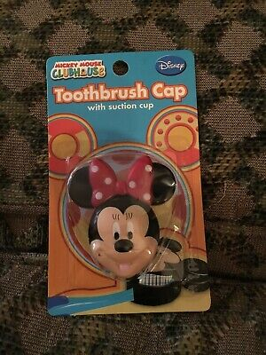Disney Minnie Mouse Toothbrush Cap with Suction Cup, New