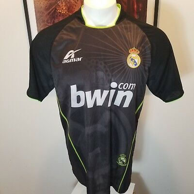 a406cb04325 2011 ADIDAS REAL Madrid Football Club Black Gold BWIN Climacool ...