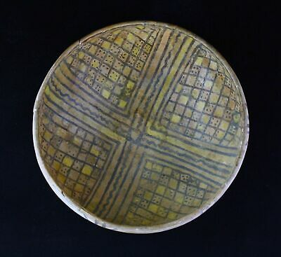 *SC* A DECORATED ISLAMIC POTTERY BOWL, WESTERN-CENTRAL ASIA, 11th.-12th cent. AD