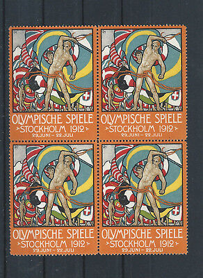 SWEDEN - Stockholm 1912 ***Olympic Games ***  Poster Stamps ***