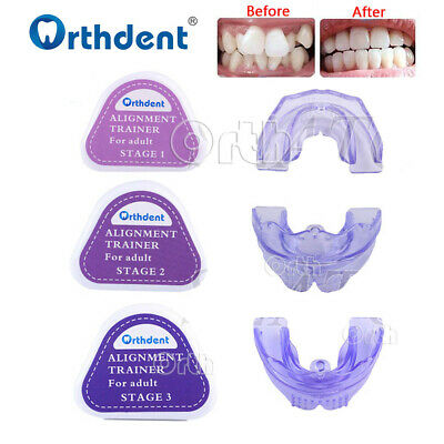 Teeth Trainer Braces Dental Orthodontic Retainer Appliance Mouthpieces 3 Stages