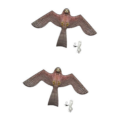 2x Bird Scarer Repeller Flying Hawk Kite Garden Scarecrow Yard House Decor