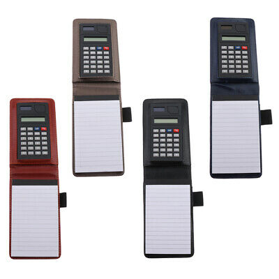 Portable Fine PU Leather Top Notebooks with an 8-bit Calculator and Pen Loop