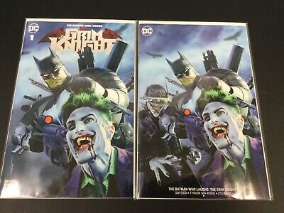 The Grim Knight (Batman Who Laughs) #1 Mike Mayhew Variant and Virgin 1500/700