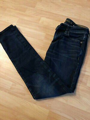 American Eagle Outfitters men's Extreme Flex 4 Denim blue Jeans 30 34 Distressed
