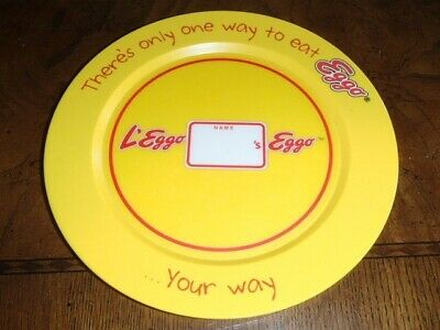 """Kellogg's 2009 Eggo Plate """"There's Only One Way to Eat Eggo.....Your Way"""" w/name"""