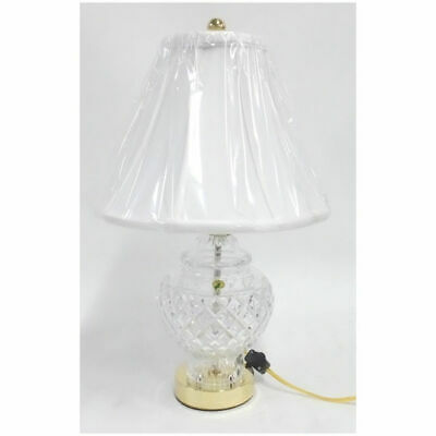 """Waterford Crystal Ashley Castle Cara 21"""" Accent Lamp w/ Cotton Shade"""