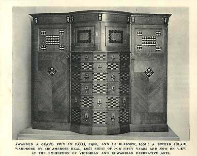 1952 Superb In Laid Wardrobe By Sir Ambrose Heal Lost 50 Years