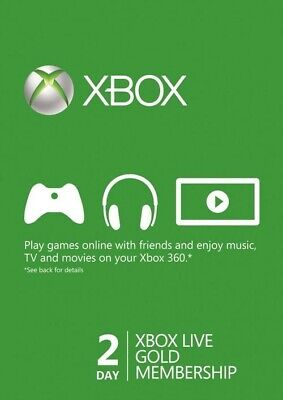 Xbox Live 2 Day Codes (24HOUR DELIVERY)