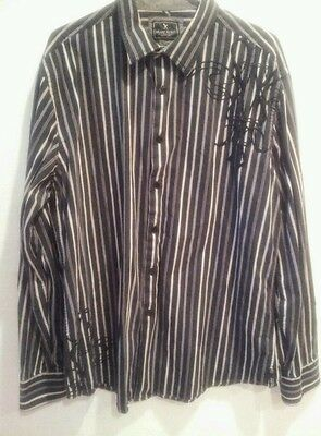 Marc Ecko  long sleeve Men's Shirt No. 72 Times Square New York size XL