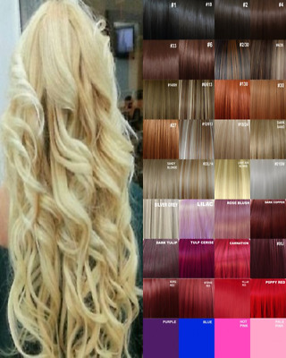 Clip in Hair Extension Human Feel Black Brown Pale Blonde Highlight Honey mango