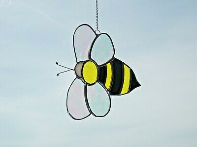 stained glass handmade bumblebee suncatcher / window decoration