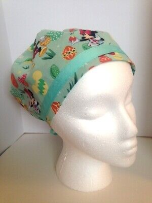 2f29fe1dbdf scrub hat women cord lock medical Carols Creations Mickey Spring 100% cotton