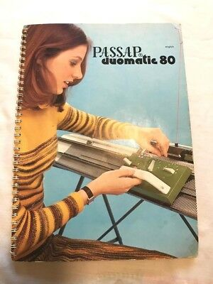 Bk94 Knitting Machine Book Manual Passap Duomatic 80 Duo Instruction Manual X1