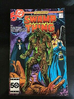 SWAMP THING #46 (DC) Special CRISIS x/o - Direct Edition. Alan Moore. VF(9) 1985
