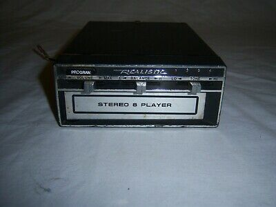 Vintage Realistic Stereo 8-Track Player 12-1801 Car Auto Radio Shack 12V