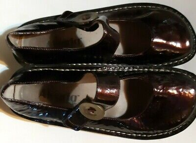 Women's Shoes Responsible Allegria By Pg Lite Sev-601 Black Leather Mary Janes Sz Eu 36m Quite Nice The Latest Fashion