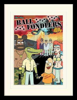 Merchandising Rick And Morty: Ball Fondlers (Stampa In Cornice 30X40 Cm) Merchan