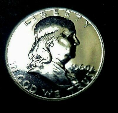 1960 Proof Franklin Half Dollar 90% Silver 50C GEM PROOF - FREE S/H in Holder